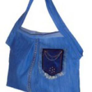 Джинсовая сумка из старых джинсов