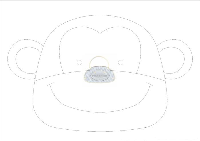 выкройка детского рюкзака обезьянка