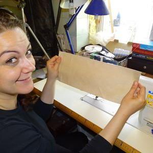 История о том, как моя сестра училась шить сумки!