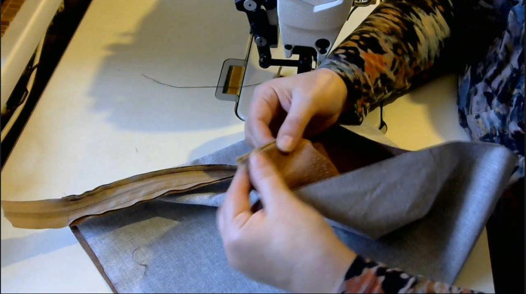 Пришиваем молнию в мешок для обуви