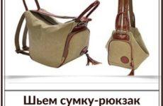 Сумка-рюкзак «Фристайл». Выкройка и техническое описание процесса шитья.