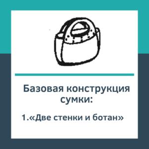 Базовая конструкция сумки «Две стенки и ботан»